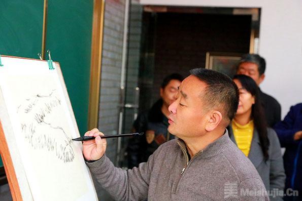 著名画家陈危冰为陕西米脂美术工作者授课,广受好评